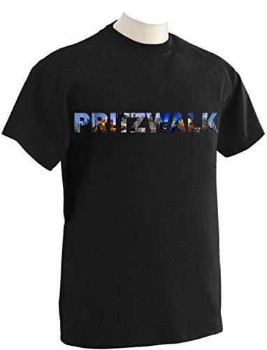 T-Shirt mit Städtenamen Pritzwalk Schwarz