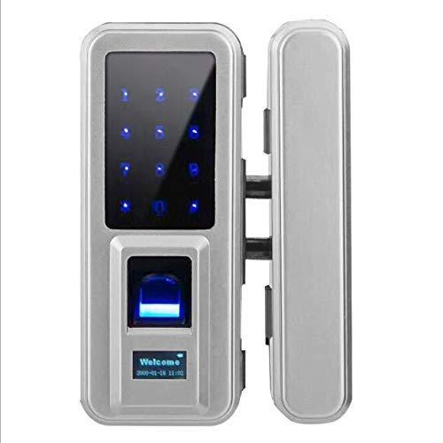 SHENMADONG Elektronisches Smart-Türschloss, Keyless Entry-Touchscreen-Fingerabdrucksperre Kennwort-Wischzug, Glastürschloss Fingerabdruck-Türschloss mit Biometric Smart Lock Keyless Home