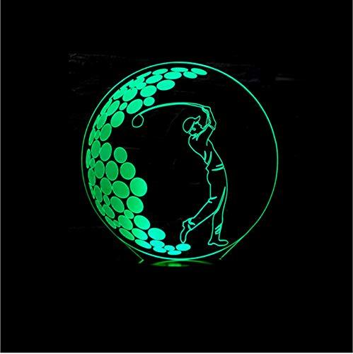 Golf 3d Led Tischlampen Für Wohnzimmer Touch Control Kleine Schreibtischlampe Schreibtisch Licht