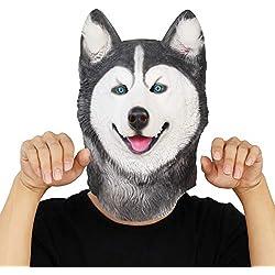 Máscaras de perros Husky Siberiano en latex.
