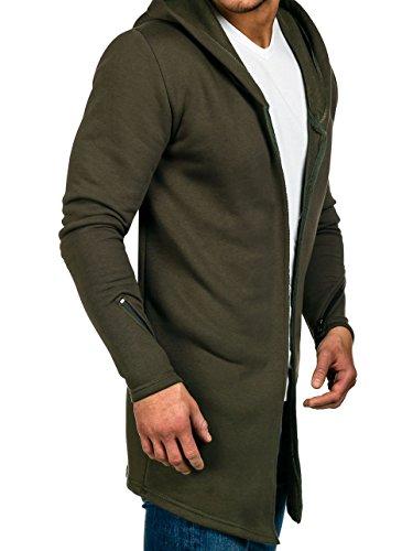 BOLF – Felpa con cappuccio – Senza chiusura – Sweat-shirt – Lunga – Uomo [1A1] Cachi