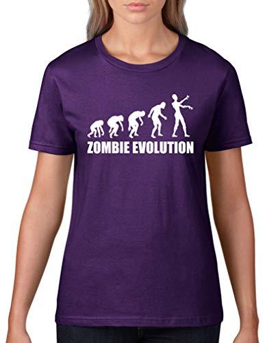 ie Evolution - Damen T-Shirt - Lila/Weiss Gr. XL ()