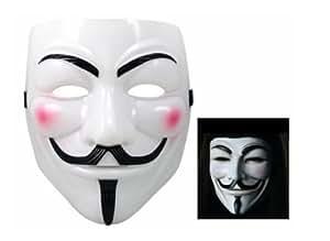 BeautyLife Masque pour les fêtes ou les soirées (Masque blanc V pour Vendetta)