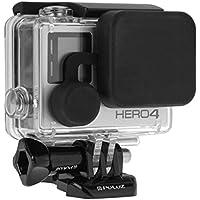 Caso della copertura GoPro Camera Lens + Housing Cap Set, Fone-Stuff® - Scratch Resistant Cappuccio di protezione per la macchina fotografica di sport di azione in nero per Hero4 / 3 + / 3 - Nero Gomma Di Ricambio Di Copertura