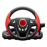 Hualieli Support PC/PS3 Game Steering Wheel 300 ° di rotazione metallo a forma di pneumatico super size Rough texture metal Racing pelle volante