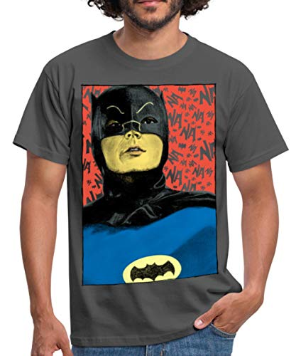 Spreadshirt DC Comics Batman Vintage Kostüm Porträt Männer T-Shirt, M, Graphite