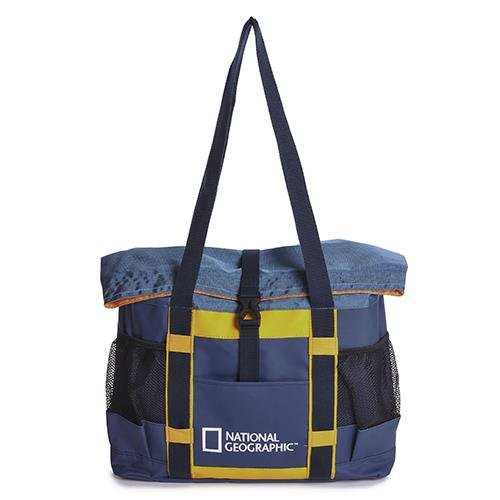 National Geographic - Borsa Con Logo Sailor Blu 42X50X10 Cm