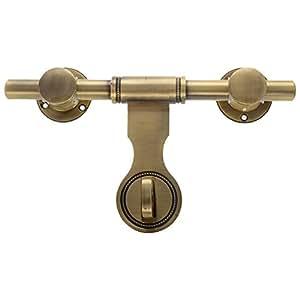 Ancora Antique Brass Aldrops - (10 Inch, Yellow)