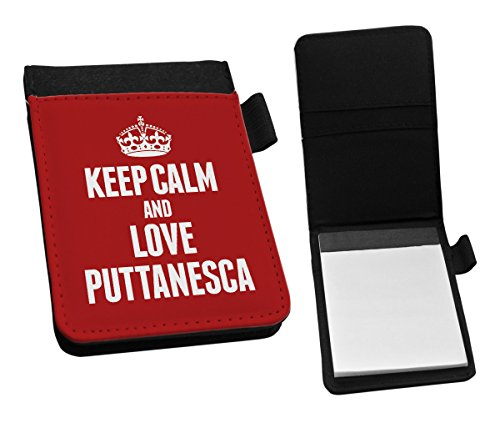 Duke Gifts RED Keep Calm and Love Puttanesca Small Notepad 1431