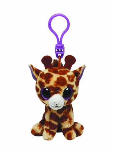 Ty 36507 - Safari Clip Beanie Boos, Schlüsselanhänger Giraffe - Kuscheltier 36 Giraffe