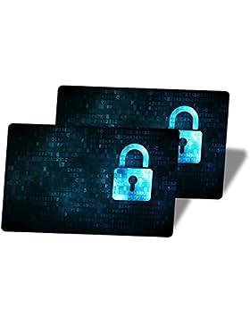 2Protección Blocker/tarjetas de crédito RFID (.)–Original Security Card–Protege contra robo mediante señales...