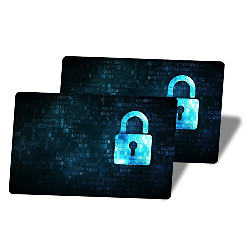 Sicherheits-karte (2 RFID Blocker NFC Kreditkarten Schutz - Blocking Card schützt mehrere Kreditkarten auf einmal. Keine einzelnen Karten Schutzhüllen mehr nötig. Erwiesener Schutz vor Diebstahl durch RFID & NFC)