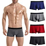 Lastia Herren Boxershorts 4er Baumwolle Unterhosen Retroshorts mit Super Qualität Multi XS