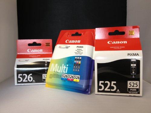 Preisvergleich Produktbild 5 Original Canon Druckerpatronen (BK/PBK/C/Y/M) für Canon Pixma MG6150 Tintenpatronen