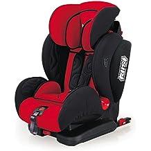 Buhitos, silla de coche bebé Integrale fix reclinable, con Isofix, Top Tether, grupo 1, 2, 3, color rojo