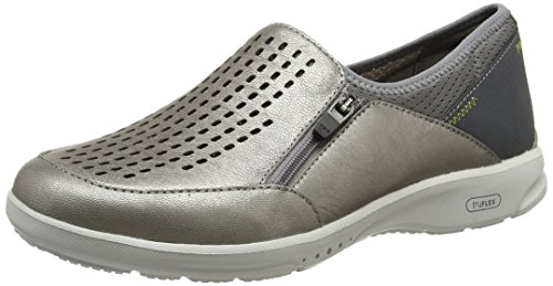 Rockport Damen Truflex W Slip On Sneaker Silver (metallic Pewter) JFZkq96d3