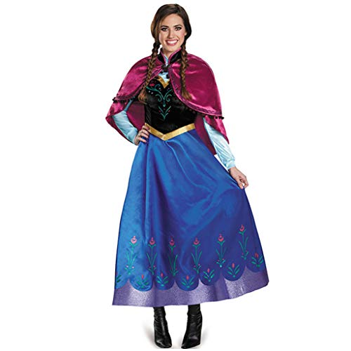 YHNUJMIK Damen Cosplay Queen Kostüm Halloween Prinzessin Kostüm Hexenspielanzug EIS Und Schnee Cosplay Erwachsene Weihnachten,S (Eis Prinzessin Kostüm Für Erwachsene)