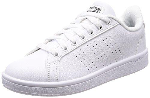 adidas CF Advantage Cl W, Scarpe da Ginnastica Basse Donna, Bianco Footwear White/Core Black, 36 EU