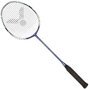 VICTOR Ti 7Graphite Raquette de badminton, Bleu/Blanc, 88g