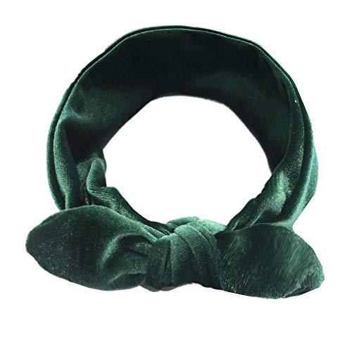 """Amphia - Kinder Mädchen Baby Turban Festes Stirnband Haar Verknotet Pleuche Zubehör Headwear - Umfang: 37 cm / 18,5\"""", Breite: 6 cm / 2,3 \'\'"""
