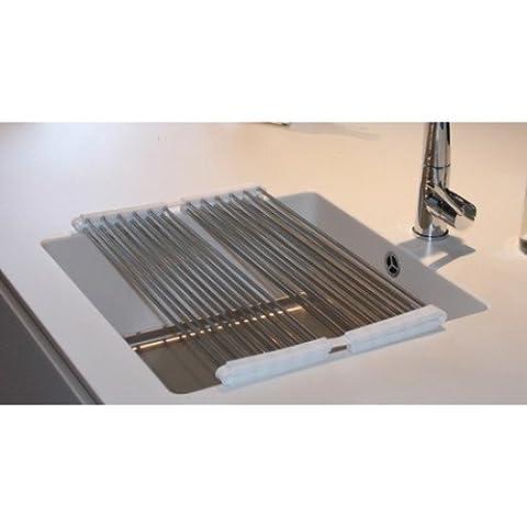 Copa Design égouttoir pliable - inox - pour évier de cuisine - 55 x 44 cm - résistant