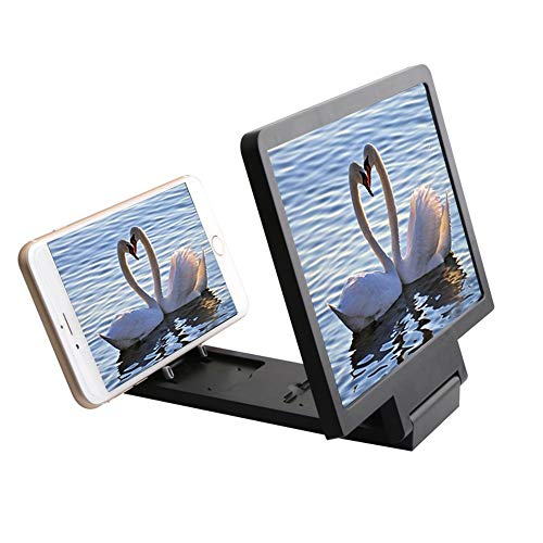 Magnifier Handy Bildschirm HD 8.2 Zoll Lupe Alle Handys Universal Strahlung Anti-Müdigkeit Augen Film Bildschirm Lupe (Farbe : SCHWARZ) -