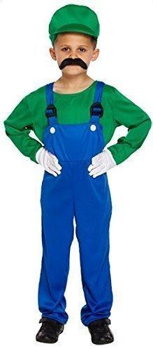 oder Luigi Klempner 1980s Buch Tag Halloween Kostüm Kleid Outfit 4-12 jahre - Grün, 4-6 Years (1980 Kostüme Für Jungen)