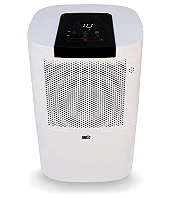 Electric Dehumidifier 12 Ltr/Day with 24h Timer, Continuous Drainage, Defrosting, Humidistat, Child-lock & Wheels, Ideal for Home, Office, Kitchen, Basement/Garage 2-Yr Warranty * Promotional Price *