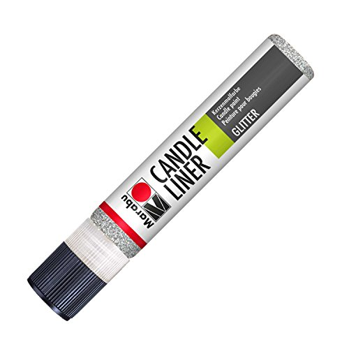 Marabu 180509582 - Candle Liner, 25 ml, Glitter Silber