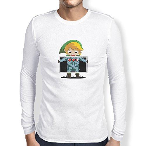 TEXLAB - X-Ray Link - Herren Langarm T-Shirt Weiß