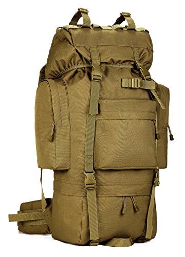 DCCN Rucksack Tactical 65L Trekkingrucksack Bundeswehr Wanderrucksacke mit Regenhülle