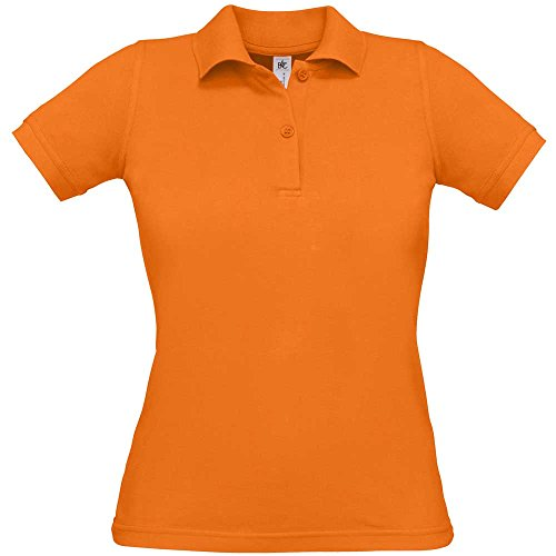 B&C Collection Womens Safran Pure Polo Shirts Pumpkin Orange