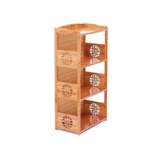 BOOK CASE Bücherregal 3-Tiers Compact Bambus, Mehrzweck-Holz Bücherregal für Home Office, Einfache Robuste Stehregal, Lagerung Filme und Bücher Regale (Größe : 42cm) (3-tier-bücherregal-regal)