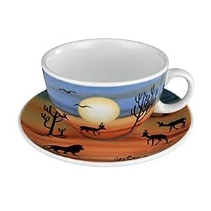 Seltmann weiden vIP. tasse avec sous-tasse à café, tasse, serengeti, porcelaine, passe au lave-vaisselle, 350 ml, 1266529