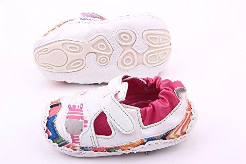 Bigood Liebe Giraffe Form Baby Mädchen Schuh Lauflernschuhe Krabbelschuhe Weiß