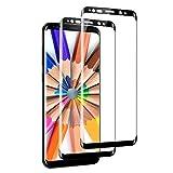 OCMCMO [Lot de 2] Verre Trempé pour Samsung Galaxy S8,[Full Coverage] Protection Écran Film Verre trempé sans Bulles (Noir)