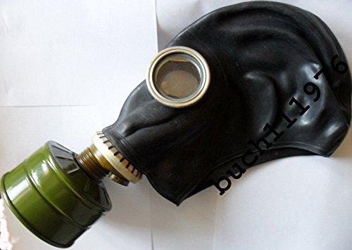 Preisvergleich Produktbild Gummi-Gasmaske GP-5 russischer Stil Sowjetunion, Schwarz, Größe 0, 1, 2, 3, 4