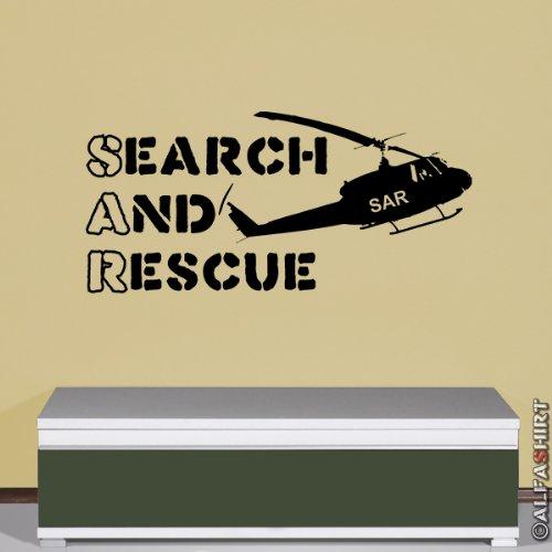 SAR Search and Rescue Suchen Retten Organisation Wandtattoo 45x96cm #5839