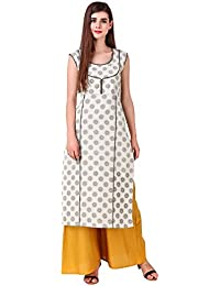 a2c11cd2663 Sreshee Women s Premium Cotton Designer Kurti with Palazzo Pants Set (Two  Colour Options)
