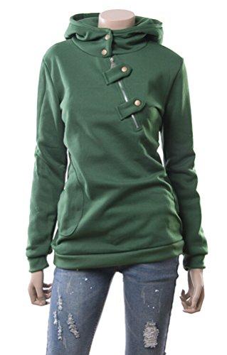 Brinny Hoodie Sweatshirt Hoodie Sweat à capuche Tops pour Femme Automne Hiver Vert
