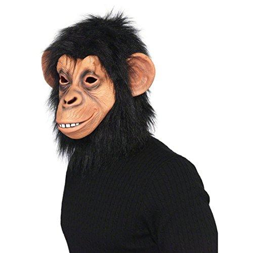 Affenmaske Tiermaske Affen Maske Affenmasken Schimpansen Maske