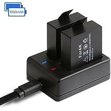 1050mAh Batería Recargable de Cámara Deportiva Con Cargador USB, APEMAN 2PCS Baterías de Cámaras de Acción para SJCam, Vtin, VicTsing, Campark, etc