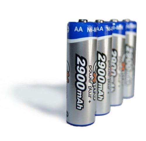 EX-Pro 2900 mAh AA (LR06)NI-MH aufladbare Batterien (, 4 Stück) Exilim Digital-batterie