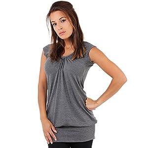 KRISP® Damen Basic Longshirt Oberteil T-Shirt Top