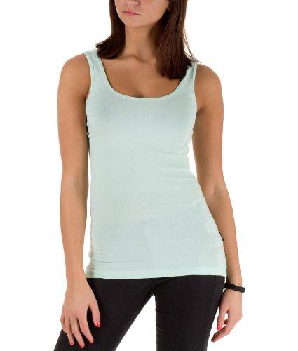 Only Damen Tanktops LIVE LOVE SHORT TANK TOP RPT Shirt 10621 Honeydew