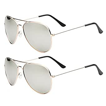 635239e8cd5 ... Spectacle Frames · Sunglasses  SHEOMY COMBO OF STYLISH GOLDEN SILVER  MERCURY AVIATOR AND GOLDEN SILVER MERCURY
