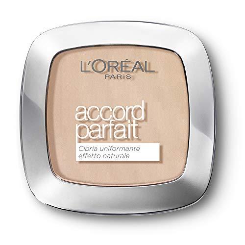L'Oréal Paris Cipria in Polvere Uniformante Fissante Accord Parfait, Finish Matte e Risultato Naturale, 2R Vanille Rosé