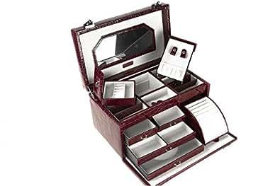 Porte-bijoux RENATO BALESTRA cadeau femme bordò valise make up T125