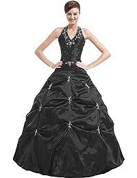 9cabdf6bc4dca2 Kmformals Damen Halfter Prom BallKleid Abendkleid Quinceanera Kleider