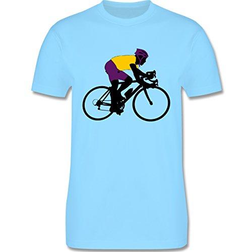 Radsport - Rennrad Triathlon - Herren Premium T-Shirt Hellblau